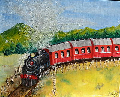 1271 Steam Engine Art Print by Denise Tomasura