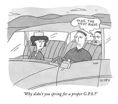 Spring Drawing - Why Didn't You Spring For A Proper G.p.s.? by Peter C. Vey