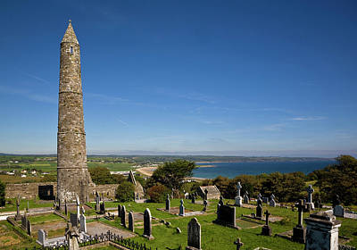 Peace Tower Photograph - 12th Century Round Tower, St Declans by Panoramic Images