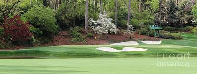 Amen Corner Photograph - 12th Green Augusta by Tom McGuirk