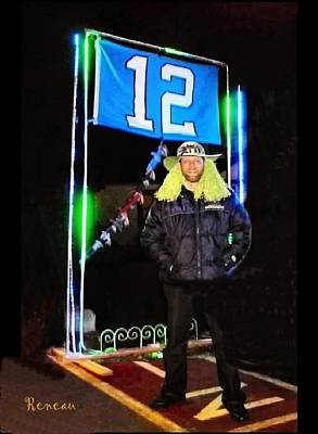 Photograph - 12th Man Supporter For Seattle Seahawks by Sadie Reneau