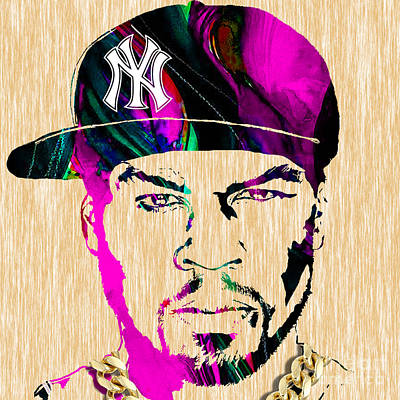 Hip Hop Mixed Media - 50 Cent Collection by Marvin Blaine