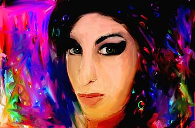 Amy Winehouse Art Print by Bogdan Floridana Oana