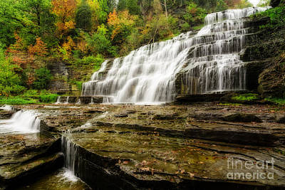 Impressionist Landscapes - Autumn Waterfall by Michael Shake