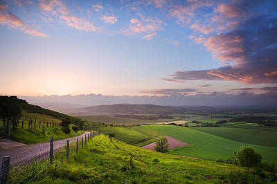Beautiful English Countryside Landscape Over Rolling Hills Print by Matthew Gibson