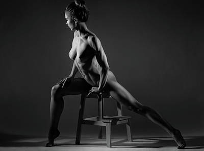 Stool Photograph - Bodyscape by Anton Belovodchenko