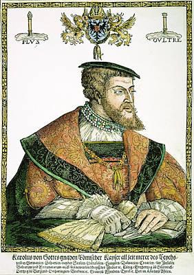 Lapel Painting - Charles V (1500-1558) by Granger