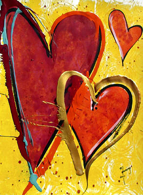 Painting - Dancing Hearts by Richard Sean Manning