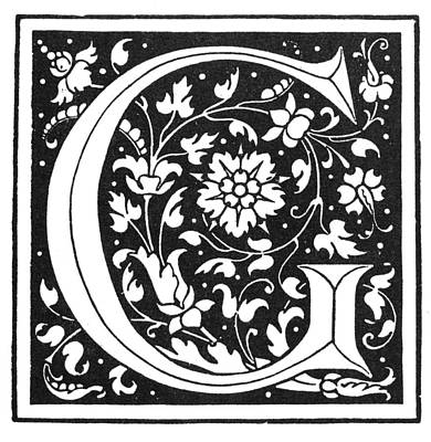 Painting - Decorative Initial G by Granger