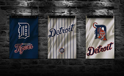 Detroit Tigers Art Print by Joe Hamilton
