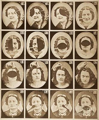 Duchenne's Physiognomy Studies, 1860s Art Print by Miriam And Ira D. Wallach Division Of Art, Prints And Photographs