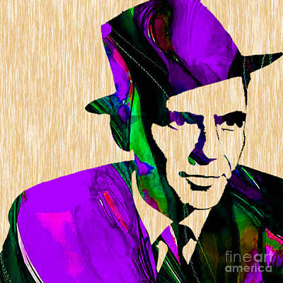 Mixed Media - Frank Sinatra Art by Marvin Blaine