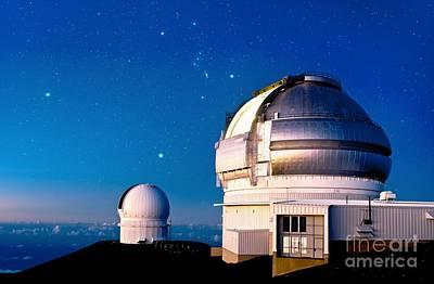Gemini North Telescope, Hawaii Print by David Nunuk
