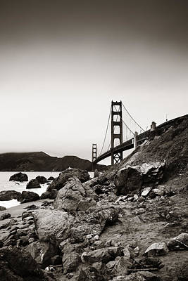 Photograph - Golden Gate Bridge by Songquan Deng