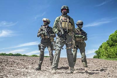Photograph - Group Of Jagdkommando Soldiers by Oleg Zabielin