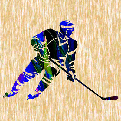 Hockey Mixed Media - Hockey by Marvin Blaine