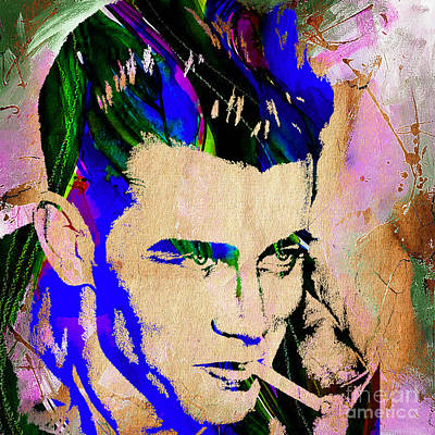 Legend Mixed Media - James Dean Collection by Marvin Blaine