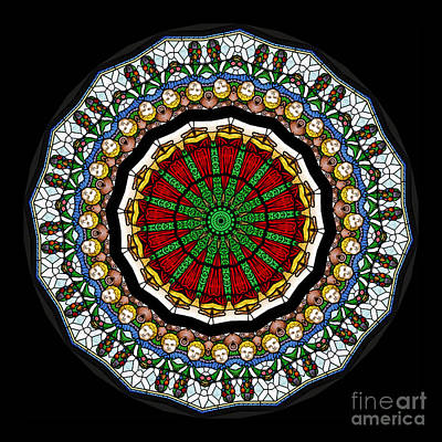 Kaleidoscope Photograph - Kaleidoscope Stained Glass Window Series by Amy Cicconi