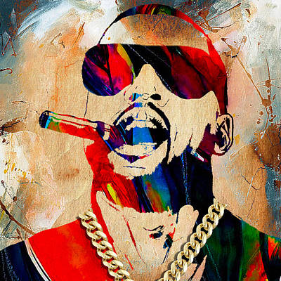 Singer Mixed Media - Kanye West Collection by Marvin Blaine