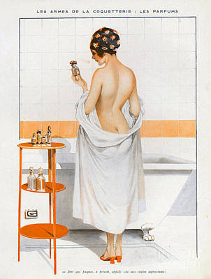 La Vie Parisienne  1916 1910s France Cc Art Print by The Advertising Archives