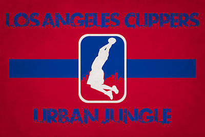 Los Angeles Clippers Art Print by Joe Hamilton