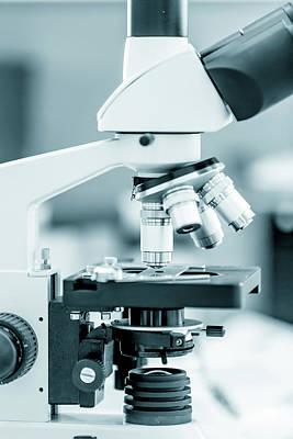 Laboratory Equipment Photograph - Medical Microscope by Wladimir Bulgar