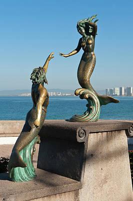 Malecon Photograph - Mexico, Puerto Vallarta by Michael Defreitas