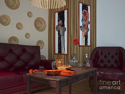 Green Painting - My Art In The Interior Decoration - Elena Yakubovich by Elena Yakubovich