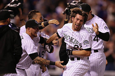 Photograph - New York Mets V Colorado Rockies by Doug Pensinger