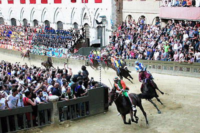 Photograph - Palio Di Siena Horse Race by Ronald C. Modra/sports Imagery