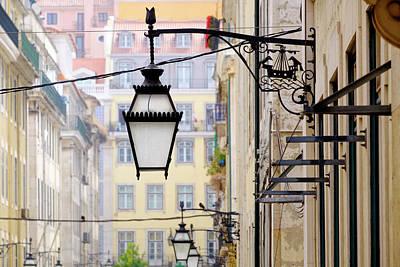 Streetlight Photograph - Portugal, Lisbon by Emily Wilson