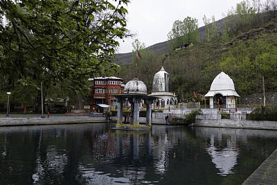 Premises Of The Hindu Temple At Mattan With A Water Pond Print by Ashish Agarwal