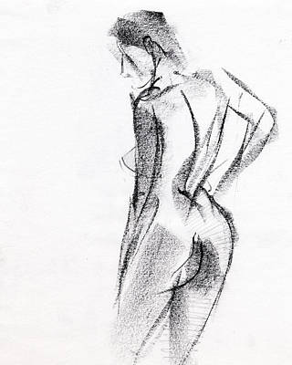 Woman Drawing - Rcnpaintings.com by Chris N Rohrbach