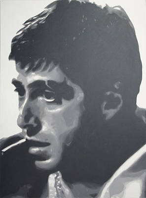 Crime Drama Movie Painting - Scarface by Luis Ludzska