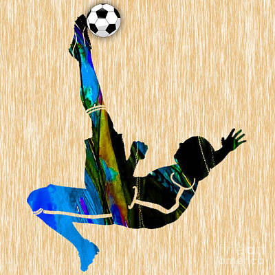 Soccer Mixed Media - Soccer by Marvin Blaine