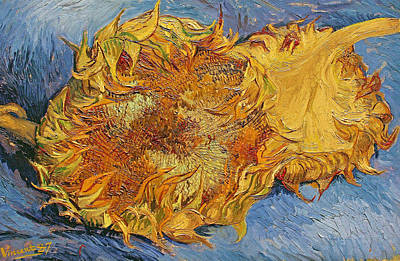 Stalk Painting - Sunflowers by Vincent Van Gogh