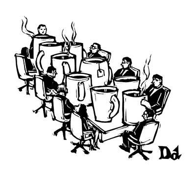 Boardroom Drawing - New Yorker September 8th, 2008 by Drew Dernavich