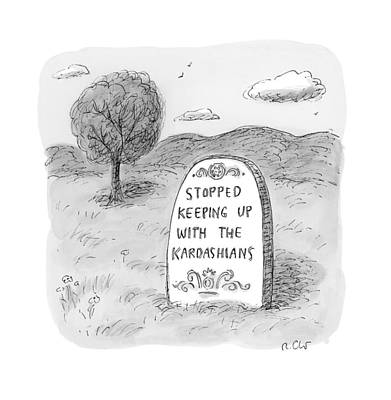 Cemetery Drawing - Untitled by Roz Chas