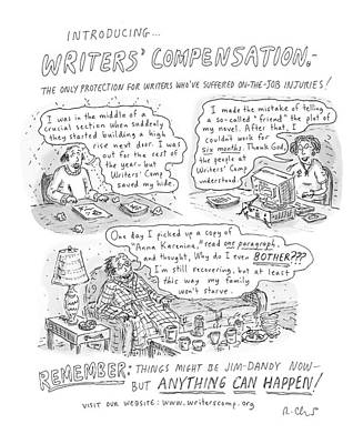 Protection Drawing - Writers' Compensation by Roz Chast