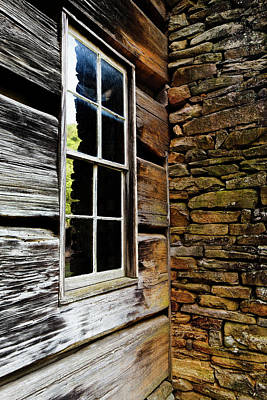 Cabin Wall Photograph - Usa, North Carolina, Great Smoky by Jaynes Gallery