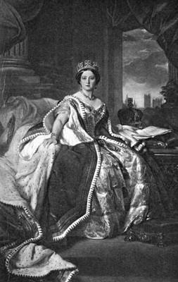 Crown Victoria Painting - Victoria (1819-1901) by Granger