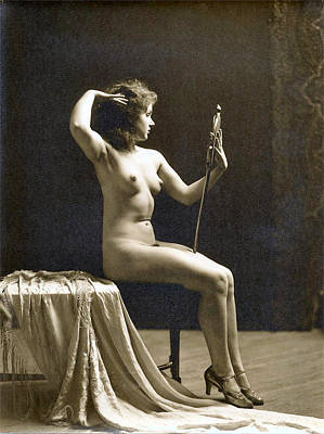 Nude Photograph - Vintage Nude Postcard Image by Unknown