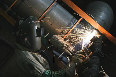 Photograph - Welding by Ronald Olivier