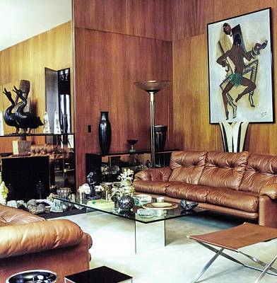 Photograph - Yves Saint Laurent's Living Room by Horst P. Horst