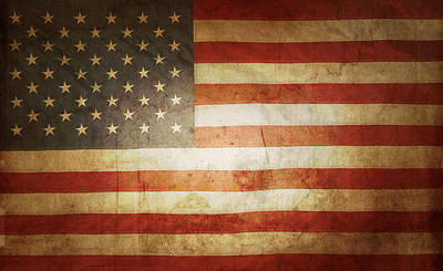 Democratic Photograph - American Flag by Les Cunliffe