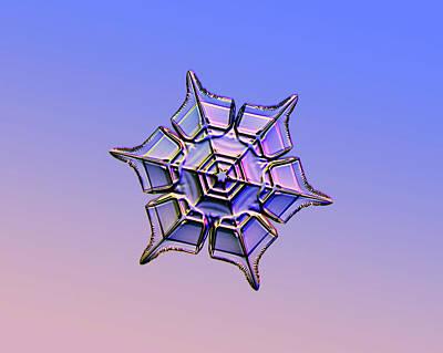 Snowflake Art Print by Kenneth Libbrecht