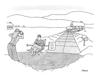 Snow Shovels Drawing - New Yorker December 17th, 2007 by Jack Ziegler