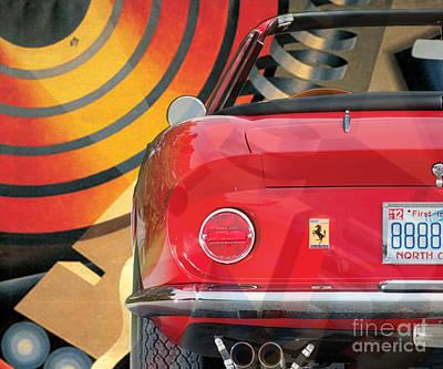 Digital Art - 130901 Bluechip Ferrari 275 Gtb4 Spyder Rossa Diulgheroff Tribute by BlueChip Luigi Gallone