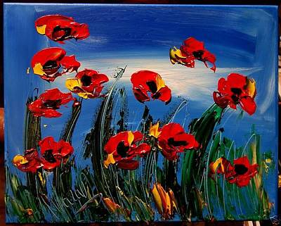 Harlow Painting - Flowers by Mark Kazav