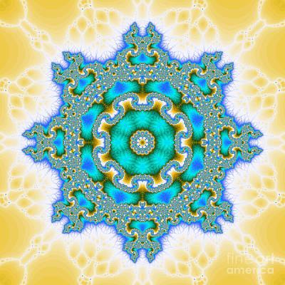 Fluorescence Digital Art - The Kaleidoscope by Odon Czintos